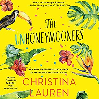 The Unhoneymooners                   Auteur(s):                                                                                                                                 Christina Lauren                               Narrateur(s):                                                                                                                                 Cynthia Farrell,                                                                                        Deacon Lee                      Durée: 9 h et 7 min     7 évaluations     Au global 4,3