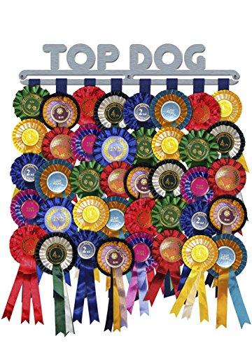Rosette Display Award Ribbon 'Top Dog' Hanger Holder Brushed Stainless Steel