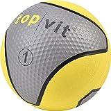 top   vit Medizinball - Fitnessball mit Gummioberfläche   Medizinbälle in Studio Qualität   1kg,...
