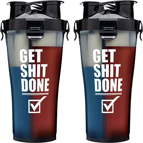 Hydra Cup 3.0 - Dual Threat Shaker Bottle - Get It Done Black - 1060 ml