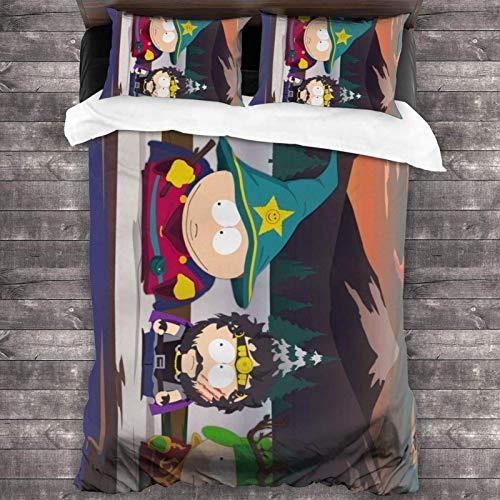 South Park Tagesdecken-Set, 3-teiliges Bettwäsche-Set, 213 x 178 cm, Bettbezug, Kissenbezüge, 50,8 x 76,2 cm