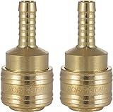 Poppstar Juego de 2 Conectores rapidos aire comprimido (hembra), diámetro nominal 7,2 mm con conector (macho) para manguera con Ø interior 8mm
