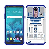 Sunshine_Tech Compatible for LG Stylo 4 2018 / LG Stylo 4 Plus/LG Q Stylus - R2D2 Astromech Droid Robot Pattern Shock-Absorption Hard PC and Inner Silicone Hybrid Dual Layer Armor Defender Case Cover