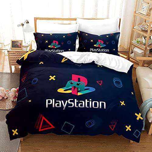 REWF Funda de edredón para 1/2 persona, diseño de graffiti 3D, juego de cama de 3 piezas, juego de cama para adultos y adolescentes, con cremallera, 2 fundas...
