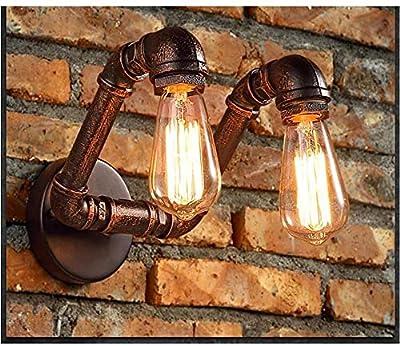 PERFECT MATCH RETRO - Apliques de pared con pantalla de metal minimalista con acabado oxidado.Esta lámpara de pared antigua vintage viene con todos los elementos que necesita para crear un ambiente de estilo retro-industrial. ESTILO TRADICIONAL - Lá...