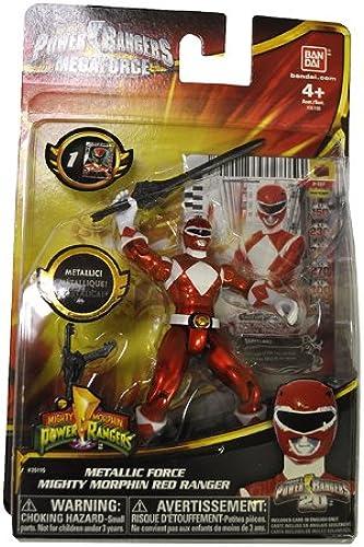 Power Rangers Megaforce 10cm Metallic Force Figur - Mighty Morphin' Roter Ranger [UK Import]