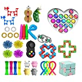 MPUOYHK 40pcs Fidget Toys Set Fidget Pack, Figetget Toys Pack Toys Mano Toys Street Ansiety Relieve Juguetes Juego, con hoyuelo Simple, Tie Dye Bubble Toy, Autismo Fidget Juguetes sensoriales