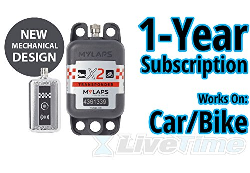 Sale!! MyLaps X2 Transponder, Rechargeable, for Car/Bike, Includes 1-Year Subscription