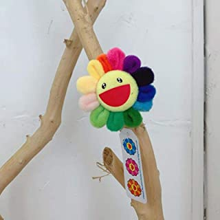 7.5CM Brooch Sunflower Pendant Adorable Brooch Takashi Murakami Rainbow Flower Expression Plush Dolls Toys Friends Couple ...