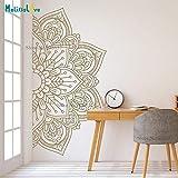 woyaofal Mandala en Medio diseño de Gran tamaño Ornamento marroquí Yoga Tema calcomanía Estudio decoración Arte de la Pared decoración para el hogar 84x168 cm