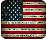 Patriotic Pledge of Allegiance USA Flag Mouse Pad Mat Mousepad for Laptop PC Gaming Home or Office