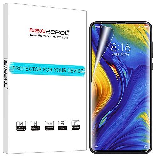 NEWZEROL [3 Pack] Ersatz für Xiaomi Mi Mix 3 / Xiaomi Mi Mix 3 5G Schutzfolie(Premium-Qualität) Bildschirmschutzfolie hohe Definition,Anti-Fingerabdruck TPU[volle Abdeckung]-[Lebenslange Ersatzgarantie]