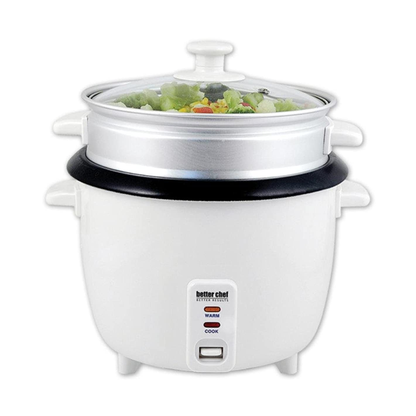 Better Chef Rice Cooker with Food Steamer Attachment consumer electronics