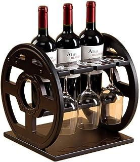 Logo TLF-FF Estante del Vino Copa de Vino Titular de la casa Patas Arriba Bastidor salón Cocina de exhibición del Vino Bar...