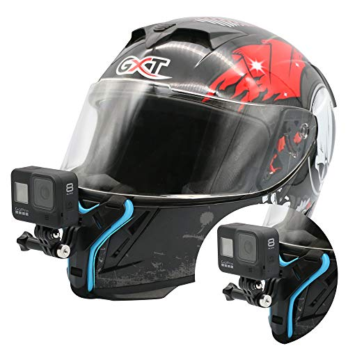 Motorcycle Helmet Chin Mount Strap Compatible with GoPro Hero 9/8/7/6/5 Black, AKASO/Campark/DJI Action Camera, with Short Connection