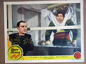 HS22 Rio Rita BUD ABBOTT & LOU COSTELLO Lobby Card. This is a lobby card NOT a video or DVD. Lobby cards were displayed in movie theaters to advertise the film. Lobby cards measure 11 by 14 inches.