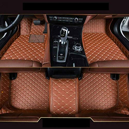 8X-SPEED Custom Car Floor Mats Fit for BMW 4 Series F33 F32 F36 420i 425i 428i 430i 435i 440i 2014-2017 Full Coverage All Weather Protection Waterproof Non-Slip Leather Liner Set Brown