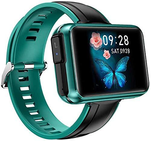 Reloj inteligente con auriculares inalámbricos hombres mujeres smartwatch auriculares Bluetooth auriculares deporte fitness pulsera verde