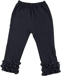Wennikids Toddler Litle Girls Cotton Ruffle Leggings