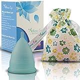 Athena Copa Menstrual – La copa menstrual más recomendada - Incluye una bolsa de regalo - Talla 2, Azul transparente...