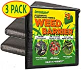 Greendale - 3 Pack of 4 Foot x 10 Foot Sheets - Landscape Weed Barrier Fabric (120 Square Feet of Total Coverage) - Heavy Duty (5.0 oz) Landscaping