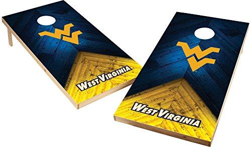 Wild Sports West Viginia Mountaineers NCAA Cornhole Outdoor Game Set, 2