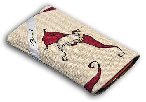 Norrun Handytasche / Handyhülle # Modell Rupprecht # ersetzt die Handy-Tasche von Hersteller / Modell Nokia Lumia 730 Dual SIM # maßgeschneidert # mit einseitig eingenähtem Strahlenschutz gegen Elektro-Smog # Mikrofasereinlage # Made in Germany