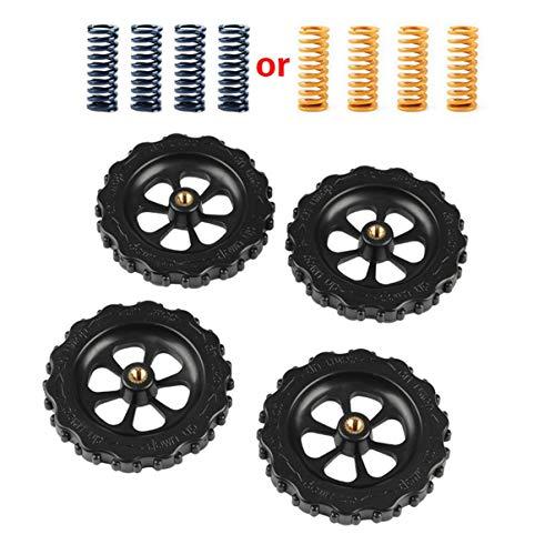 Monllack 3D Printer Parts M4*40 Screw&Nut Leveling Spring Kit For Heated Bed Cr10 Ender-3 Um2 Prusa I3 Mk2/Mk3 Hotbed
