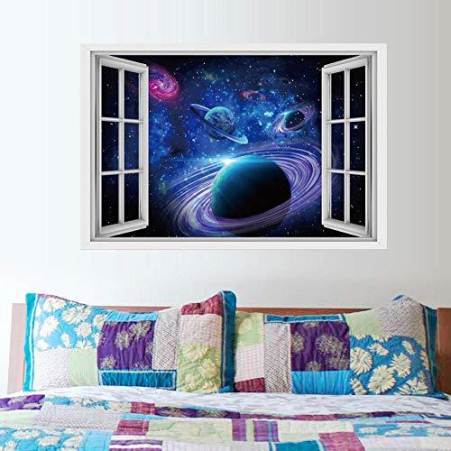 3D cielo estrellado planeta universo galaxia pared rota y pegatinas de suelo decoración del hogar pintura 60 * 90 CM
