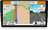 YUNTX PX6 Android 10 Autoradio - 4G | 64G - GPS 1 DIN - Cámara Trasera Gratis - 10.1 Pulgada Pantalla táctil - Soporte Dab/Mandos de Volante/USB/SD / 4G / WiFi/Bluetooth/MirrorLink/Carplay