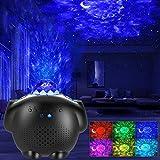 Lámpara Proyector Estrellas GRDE Músic Luz Nocturna, Proyector Lámpara 4 in 1 con de Voz Control Temporizador y Bluetooth, Nocturnas de Nebulosa Luces Regalos para Halloween Acción Gracias Navidad