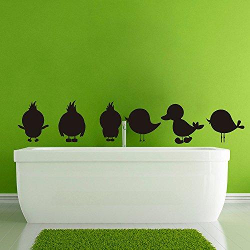 Stickers muraux Oiseau canard Sticker pépinière Art Chambre vinyle autocollant décor murale Les peintures murales Salle de bain vk24