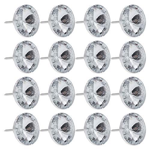 60 botones para coser con diamantes de imitación de cristal, para tapicería, sofá-cama, cabecero, para coser en la pared, manualidades, decoración de 30 mm