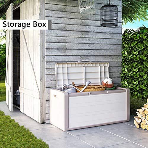 ZHOUAICHENG Garten Aufbewahrungsbox Outdoor Pad Box Kissenbox Kunststoffmöbel Aufbewahrungsbox Truhe 100% Wasserdicht mit Belüftung Große Kapazität Schmutz Werkzeugkasten 300 Liter