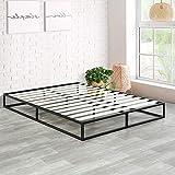Olee Sleep 9 Inch Modern Metal Platform Bed Frame / Wooden Slats / Mattress Foundation / Wood Slat Support / No Box Spring Needed, Queen
