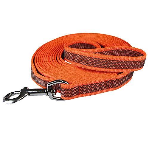 Schecker orange 10m Grip Colour Rainbow Schleppleine mit Handschlaufe Länge: 10 m st durch 24 eingearbeitete Gummi Filamente besonders rutschfest