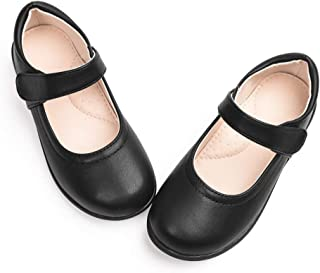 Girls Mary Jane Flats School Shoes for Students Kids
