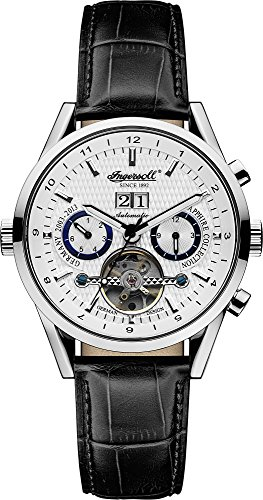 Ingersoll Herren Chronograph Automatik Uhr mit Leder Armband IN1310SL