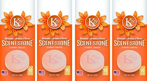 Sterling Teal (K16001-4) K29 'Blossom' Stone Air Freshener, (Pack of 4)