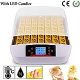 Incubatrice automatica 56 uova Incubatrici con illuminazione a LED con display digitale rotazione automatica e controllo della temperatura efficiente e intelligente