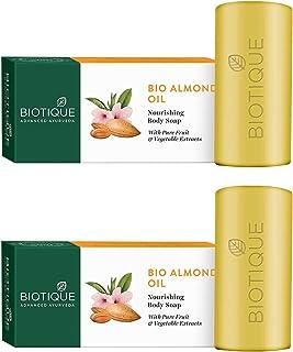 Biotique Almond Oil Nourishing Body Soap, 150g (Pack Of 2)