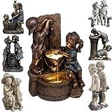 KEXIMIXUE Estatuas de jardín grandes para jardín, estatuas de jardín para niños y niñas, de resina, para jardín, jardín, jardín, jardín, jardín, jardín, oficina, mesa de escritorio