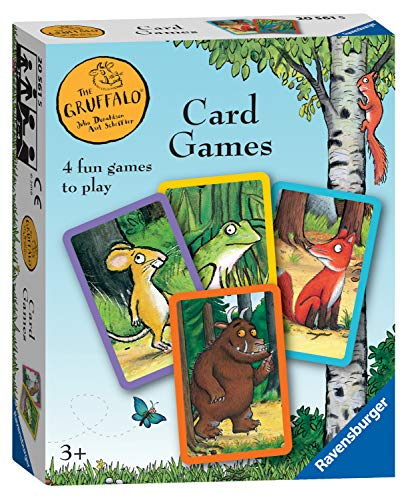 Ravensburger 20561 Gruffalo-Card Game for Kids Age 3 Years and Up-Play 4 Exciting Favourites Snap, Happy Families, Swap or Pairs