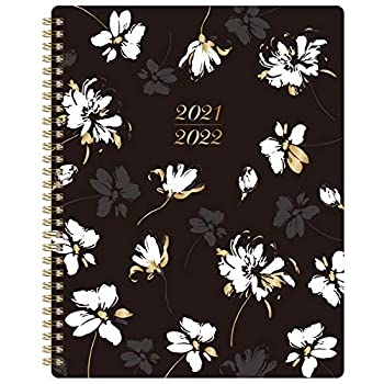 2021-2022 Planner - 2021-2022 Academic Planner from July 2021 to June 2022 8  x 10  with to Do List Floral Cover with Twin-Wire Binding Printed Tabs