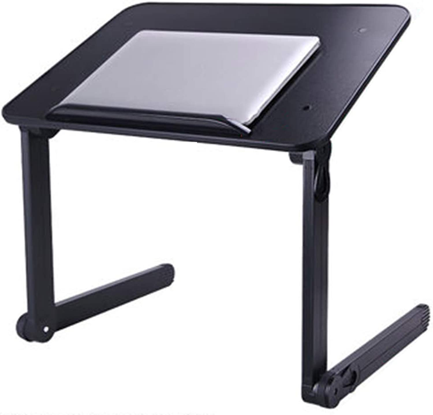 Coffee Table Folding Table Laptop Stand Adjustable Height Angle Lifting Small Desk Multifunction Lazy Bedside Table, Aluminum Alloy, 2 colors (color   A)