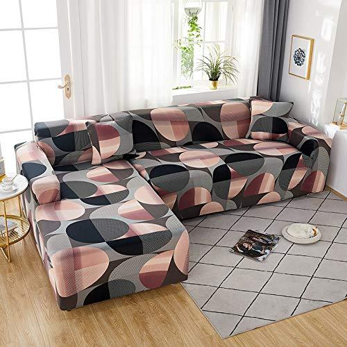 WXQY Funda de sofá elástica geométrica elástica Funda de sofá, Funda de sofá en Forma de L Todo Incluido, para Fundas de sofá de Diferentes Formas A19 3 plazas