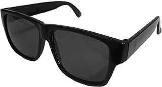 KIRALOVE - Gafas de sol - Idea regalo original - cumpleaños - unisex - cuadrados - rectangulares - vintage - cuadrados- retro - lente negra montura negra