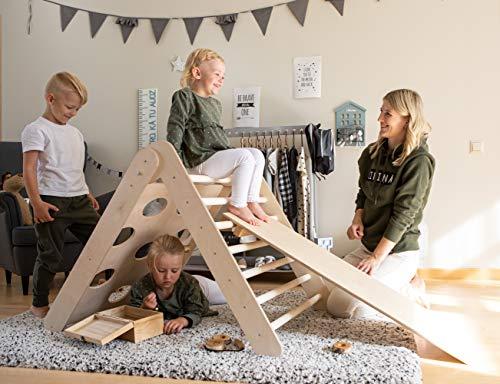 Sweet Home from wood Triángulo Pikler - Triángulo transformable - Gimnasio de Actividades para niños (con rampa)