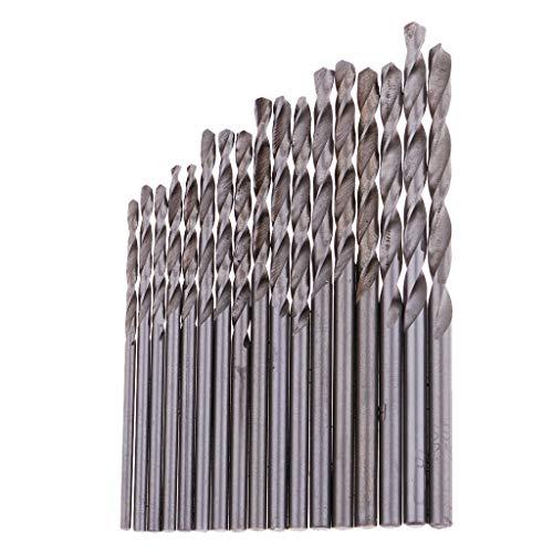 17 pcs Precision Pin Vise Hand Drill Bits Brocas de mano con