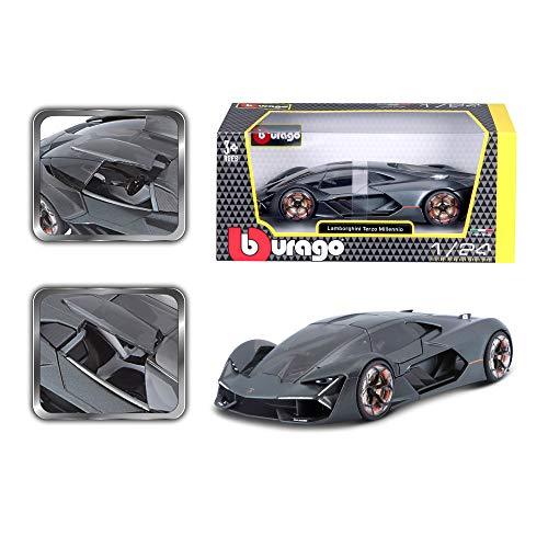 Bauer Spielwaren B18-21094 Bburago Lamborghini Terzo Millennio: Modellauto im Maßstab 1:24, Türen zum Öffnen, 19 cm, sortierte Farbe (18-21094)